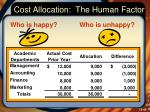 cost allocation the human factor2