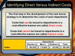 identifying direct versus indirect costs1
