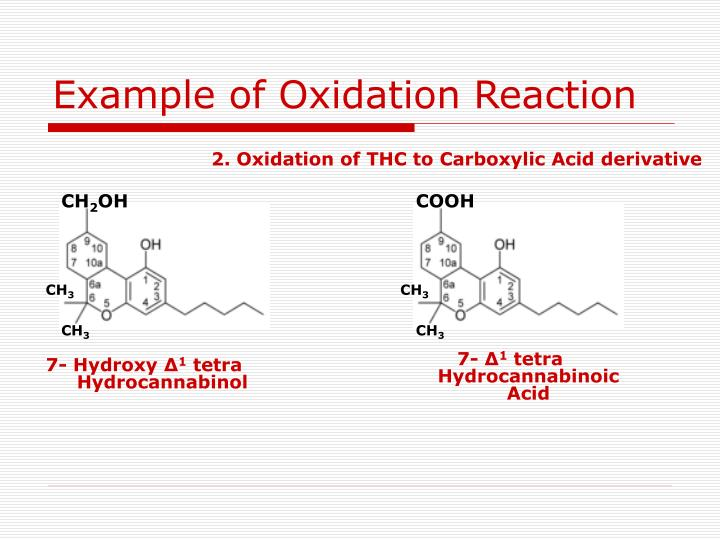 Example of Oxidation Reaction