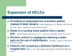 expansion of hclcs