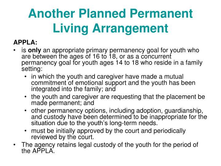 Another Planned Permanent Living Arrangement