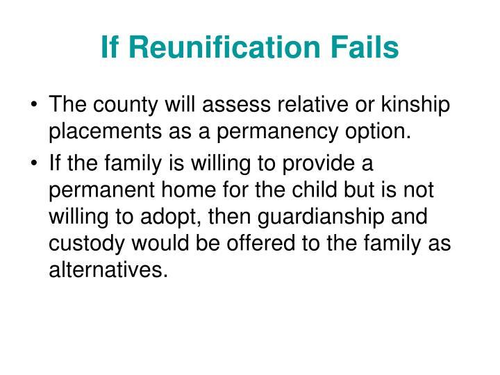 If Reunification Fails
