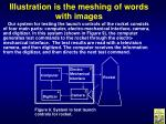 illustration is the meshing of words with images