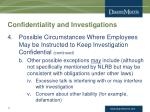 confidentiality and investigations10