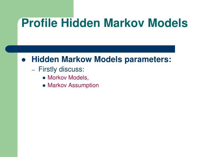 Profile Hidden Markov Models