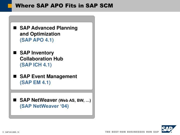 Where SAP APO Fits in SAP SCM