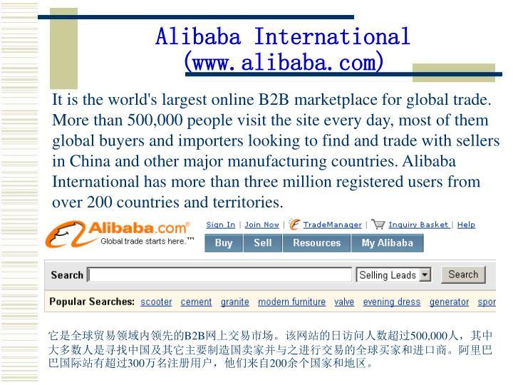 Alibaba international www alibaba com