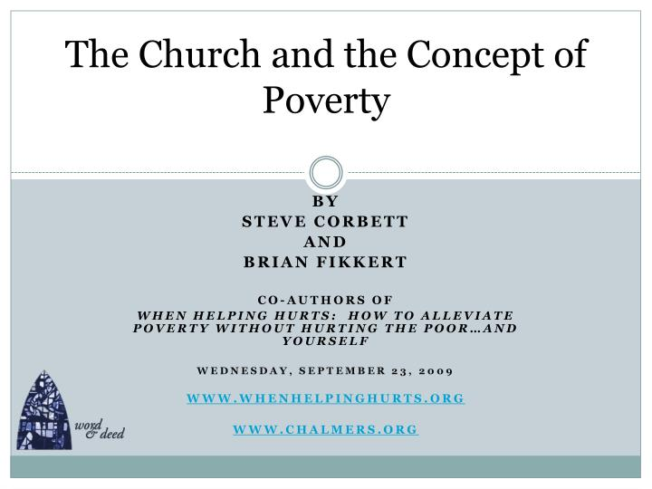 the church and the concept of poverty n.
