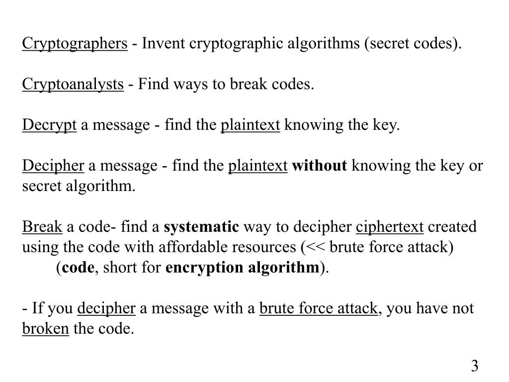 PPT - Chapter 2 - Conventional (Single-Key) Cryptography ECE-6612