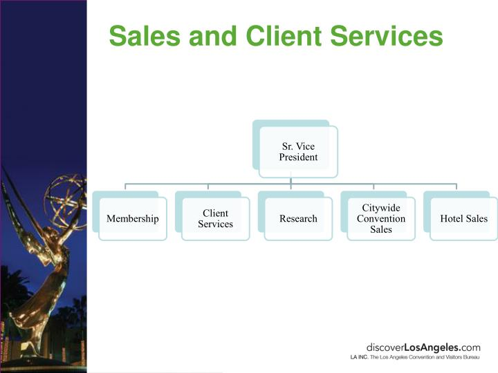 Sales and Client Services