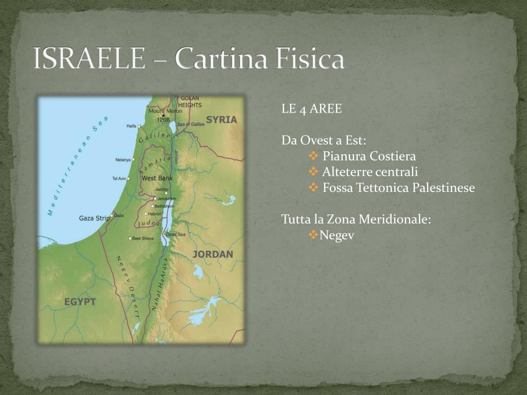 Cartina Geografica Fisica Israele.Ppt Israele Powerpoint Presentation Free Download Id 2942361