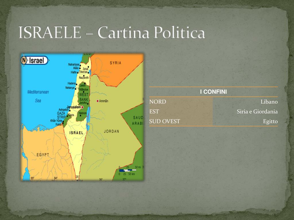 Cartina Israele Giordania.Ppt Israele Powerpoint Presentation Free Download Id 2942361