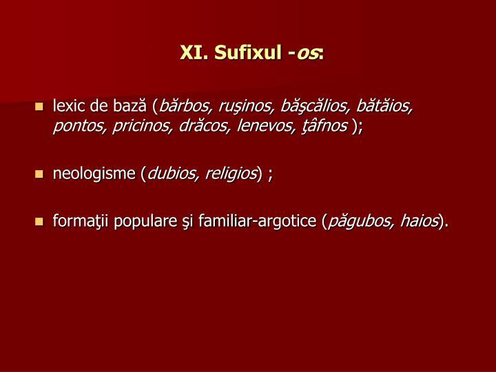 XI. Sufixul -