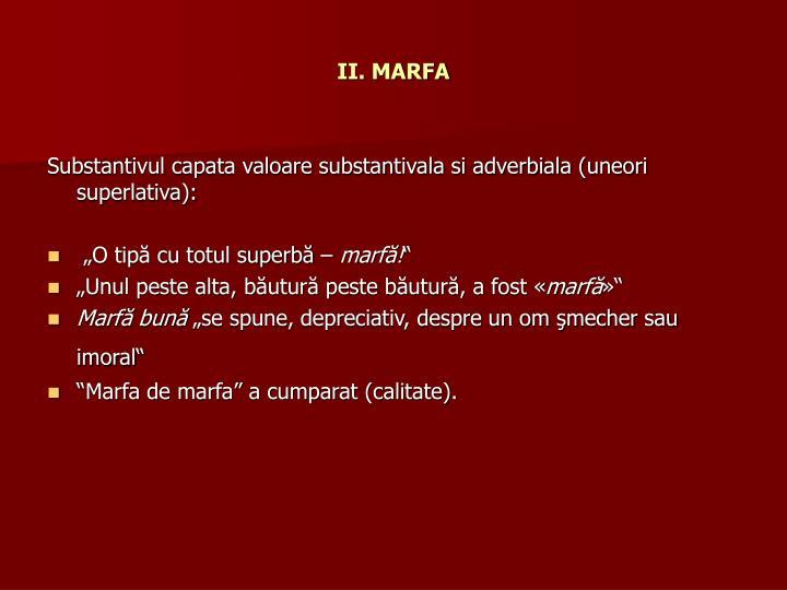 II. MARFA