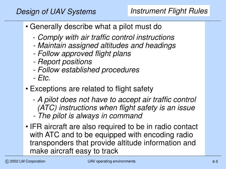 Design of UAV Systems
