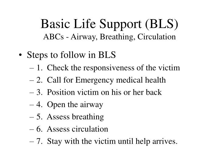 basic life support 2 essay 2 summary of changes in basic life support and automated external defibrillation since the 2010 guidelines guidelines 2015 highlights the critical importance of the interactions between the emergency medical dispatcher, the bystander who provides cardiopulmonary resuscitation (cpr) and the timely deployment of an automated external defibrillator (aed.