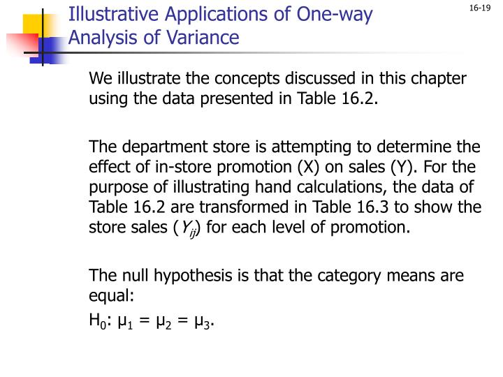 Illustrative Applications of One-way