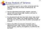 n way analysis of variance
