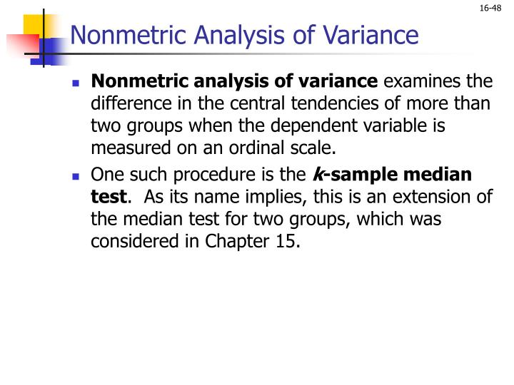 Nonmetric Analysis of Variance