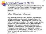repeated measures anova1