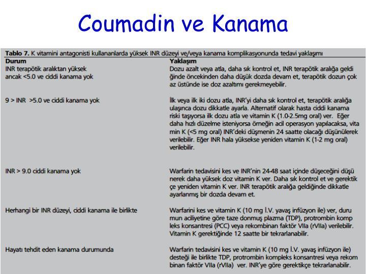 Coumadin ve Kanama