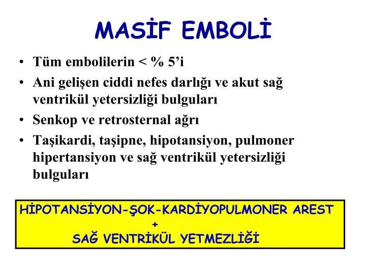 MASİF EMBOLİ