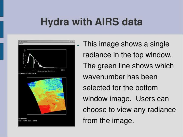 Hydra with AIRS data
