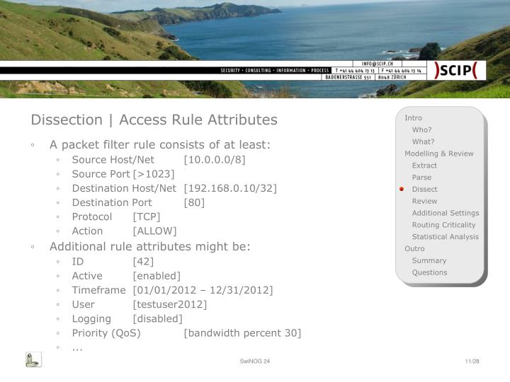 Dissection | Access Rule Attributes