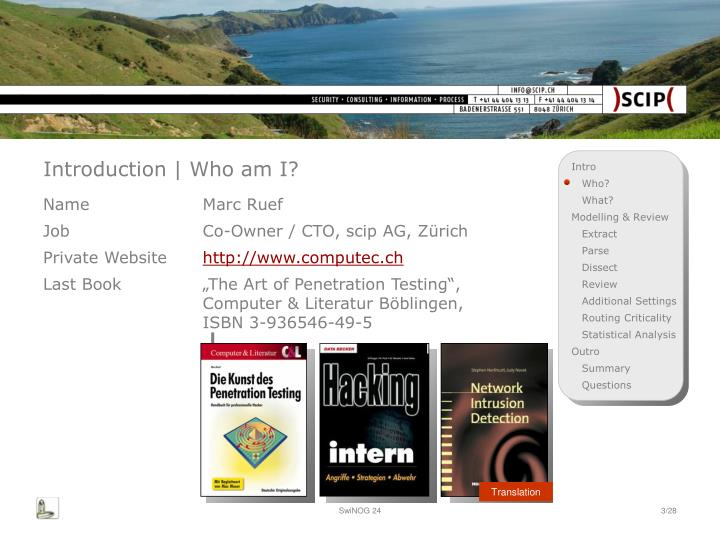 Introduction who am i