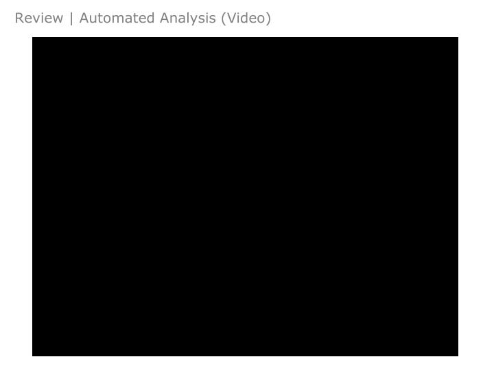 Review | Automated Analysis (Video)