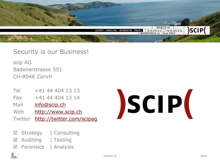 Security is our Business!