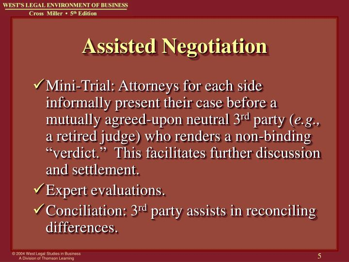 Assisted Negotiation