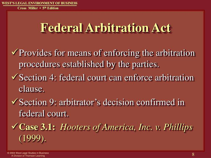 Federal Arbitration Act