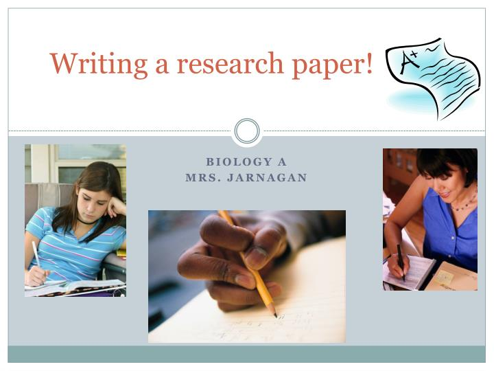 writing a research paper n.