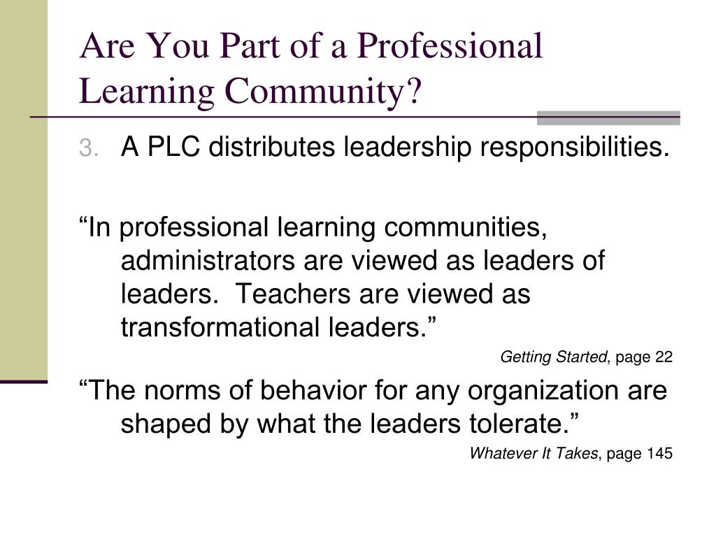 PPT - Are You Part of a Professional Learning Community