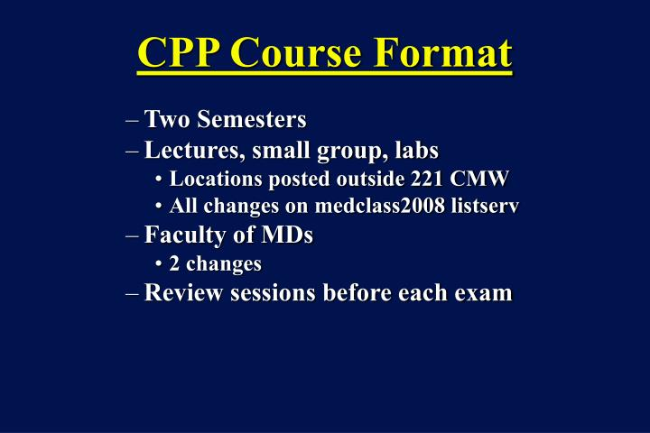 Cpp course format