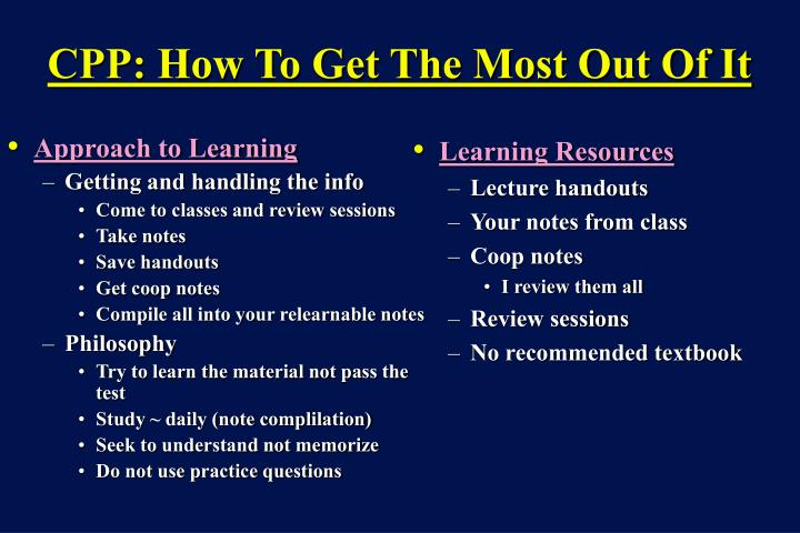 Approach to Learning