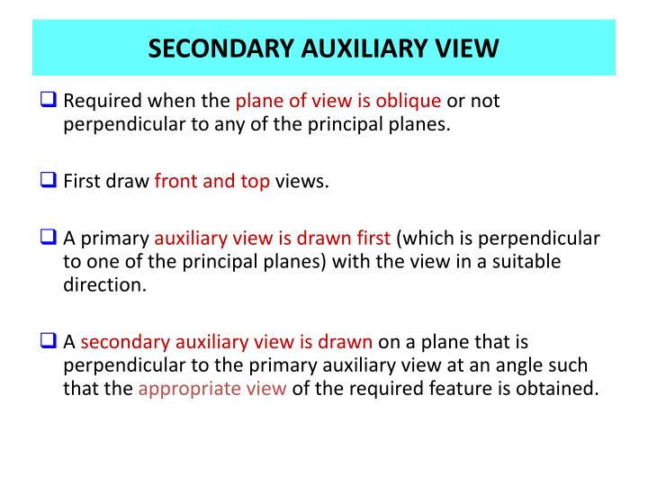 SECONDARY AUXILIARY VIEW