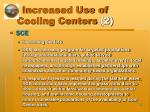 increased use of cooling centers 2