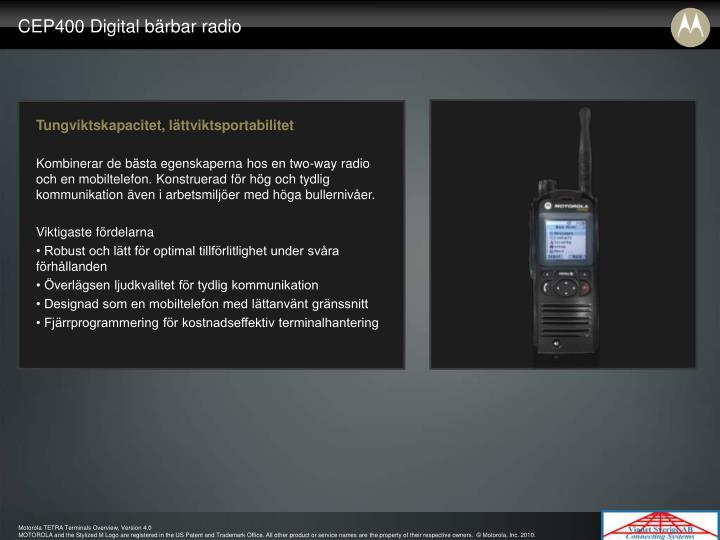 CEP400 Digital bärbar radio