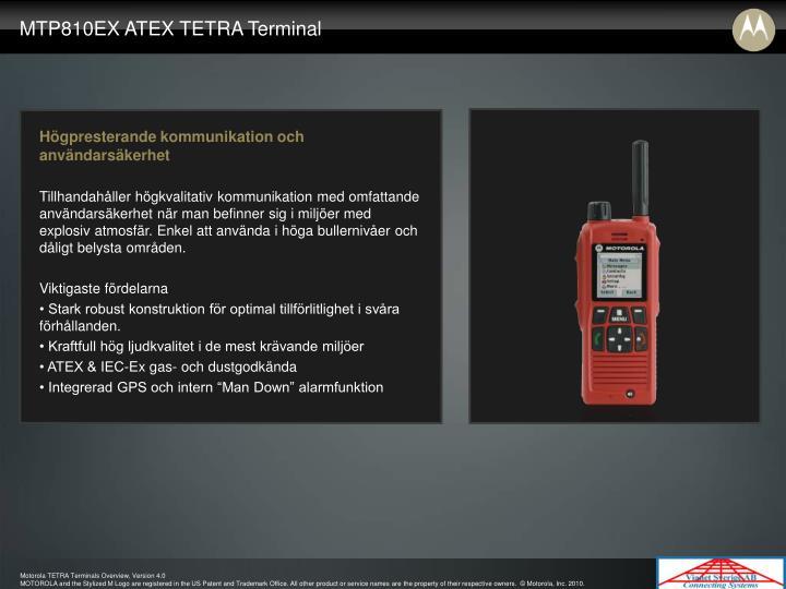 MTP810EX ATEX TETRA Terminal
