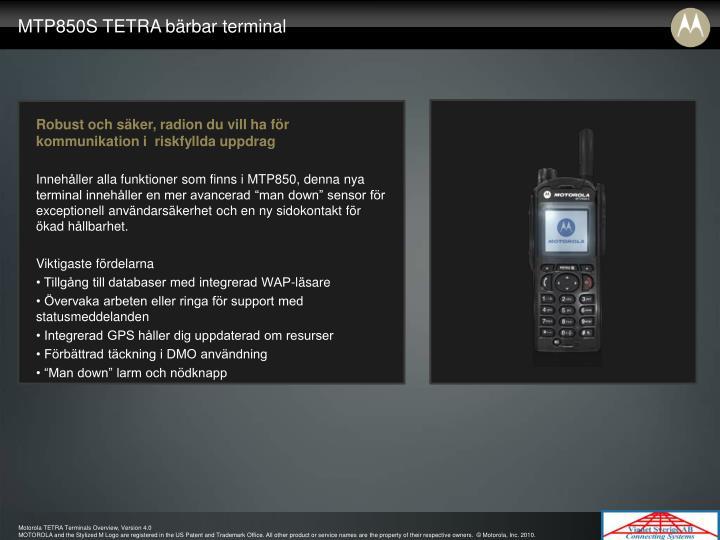 MTP850S TETRA bärbar terminal