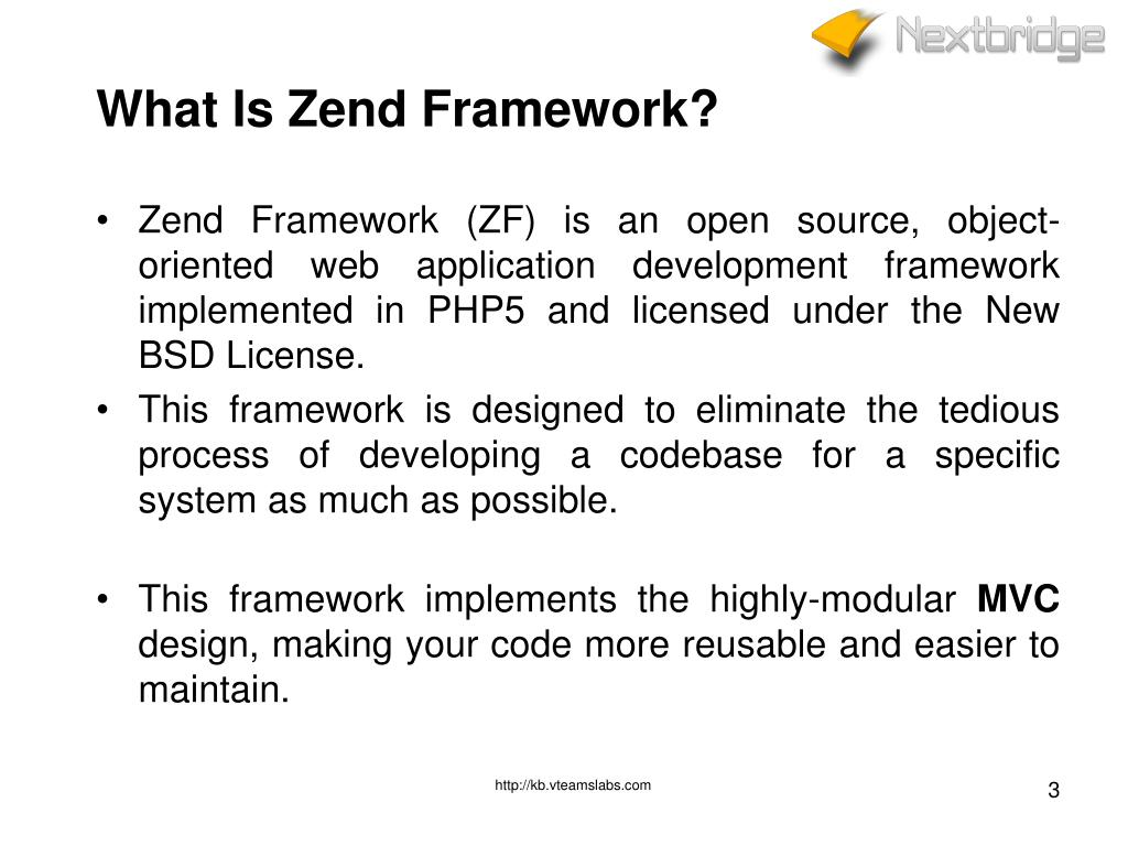 PPT - ZEND FRAMEWORK Basics Training PowerPoint Presentation - ID