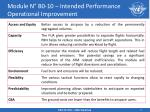 module n b0 10 intended performance operational improvement