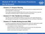 module n b0 10 necessary procedures air ground