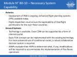 module n b0 10 necessary system capability