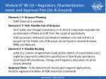 module n b0 10 regulatory standardization needs and approval plan air ground