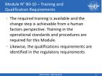 module n b0 10 training and qualification requirements