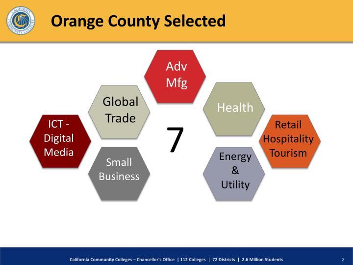 Orange county selected