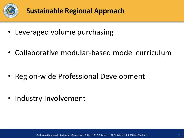 Sustainable Regional Approach
